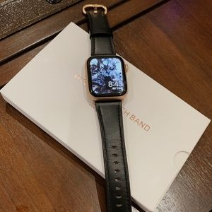 BLACK AND ROSE GOLD APPLE WATCH BAND